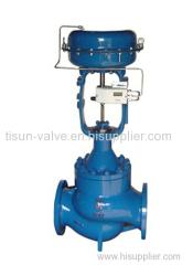 pneumatic cage type regulating valve