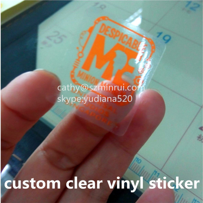 Professional Custom Water Proof Transparent Clear Stickers - Custom clear vinyl stickers