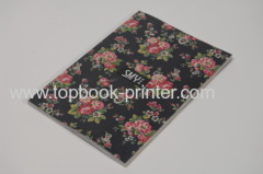 silver stamping cover section sewn softback or softcover book with parchment paper