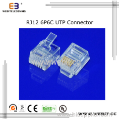 Telephone connector RJ12 6P6C UTP connector
