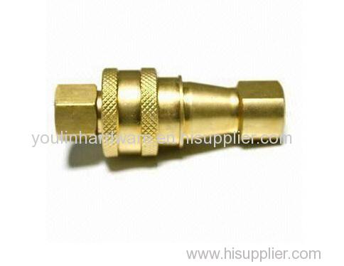 Brass polishing pump fitting