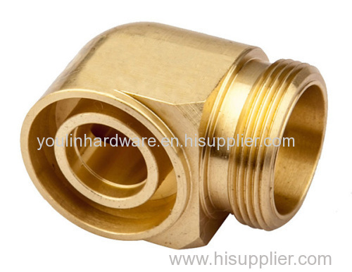 Two way brass connecter for pipe