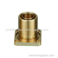 High quality CNC lathe brass connect inlet