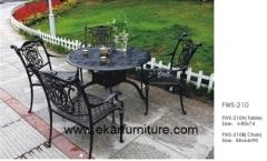 Garden chair iron garden dining