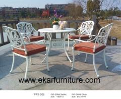 Garden chair iron garden chair cushions dining table metal