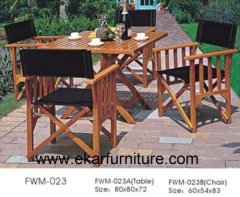 Teak table graden chairs garden dining table and chair