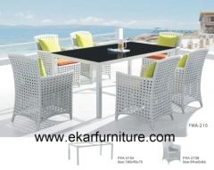 Wicker effect 4 seater sofa dining coffee table garden sofa uk