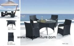 Wicker effect sofa set with cushions garden dining table Wicker effect sofa set with cushions garden dining table
