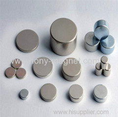 High Power Ndfeb Disc Magnet Nickel Coating