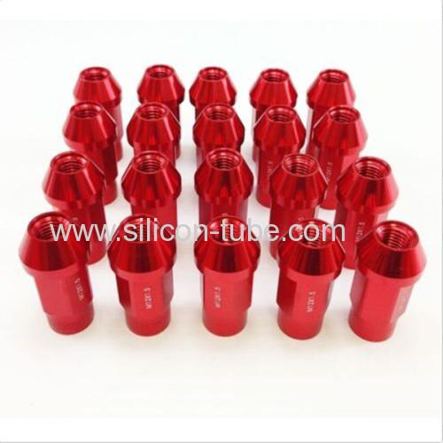 M12x1.5 Aluminum Lug Nut Nuts Wheel Extended Silver