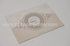 Landscape die cut gold stamping cover design soft cover book with die-cut window
