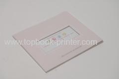 High-grade landscape UV-coated and die-cut cover softback book