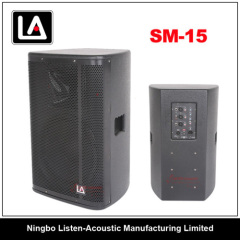 Full range 15inch wooden cabinet active/passive speaker