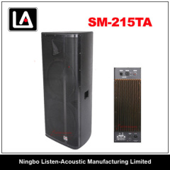 dual 15/high power wooden cabinet speaker/wheel