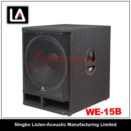 """good quality 15"""" subwoofer wooden carpet cabinet speaker"""