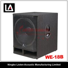 wooden subwoofer cabinet speaker passive/active