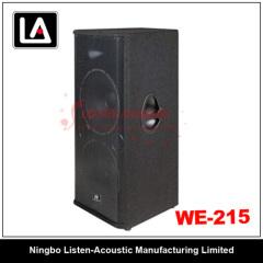 DUAL 15inch wooden speaker titanium compression driver