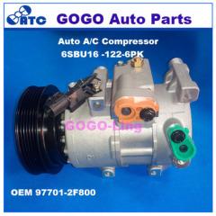 GOGO 6SBU16 Auto A/C Compressor for KIA CERATO SPECTRA OEM : 97701-2F800