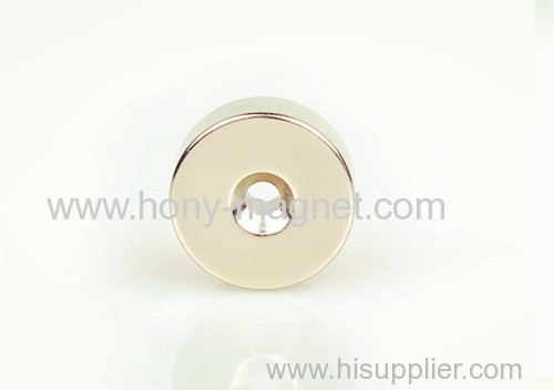 Strong Ring Shaped Magnet with nickel coating
