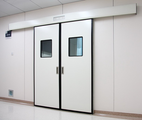 double open automatic sliding steel doors for clean rooms