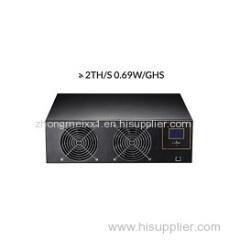 2 TH/s Bitcoin Asic Miner with 2000 GH/s SHA-256 BTC