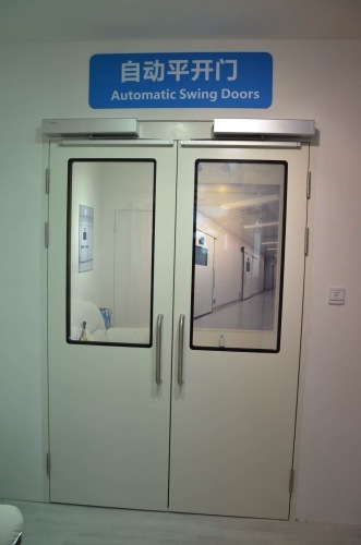 Dunker motor automatic hermetic swing steel doors for hospitals