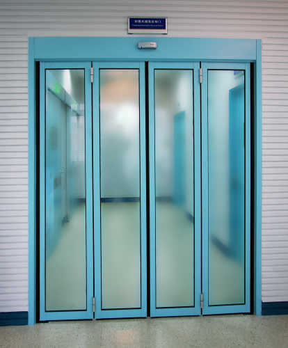 automatic folding sensor glass doors