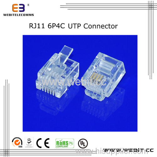 Telephone connector RJ11 6P4C UTP connector
