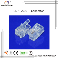 Telephone connector RJ9 4P2C UTP connector