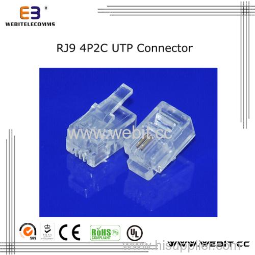 Telephone connector RJ9 4P2C UTP connector