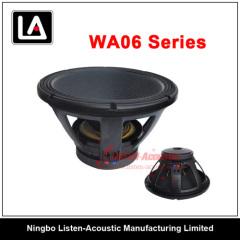 Aluminum frame Pa woofer/High intensity aluminum basket