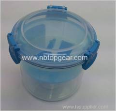 Locked 2 compartments stroage container with spoon