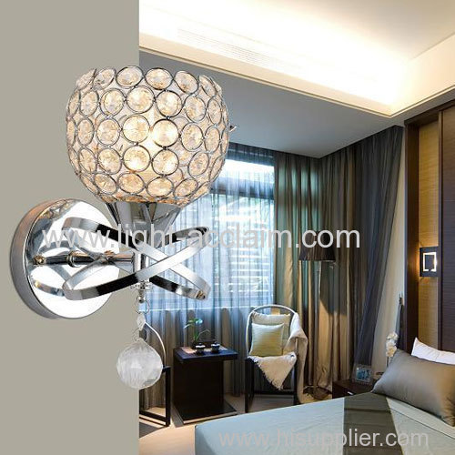 Creative spheres LED crystal bedside wall lamps for sale
