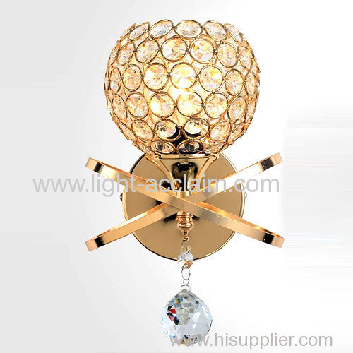 Modern crystal Sconces golden ball iron crystal lamp crystal lamp