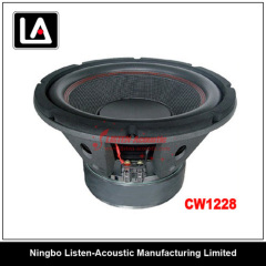 12 inch size Full Timbre auto woofer