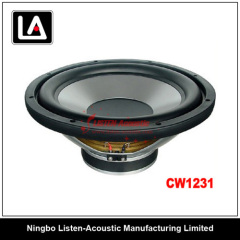 12 inch size clear and smooth voice auto woofer