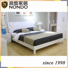 High gloss bedroom furniture panel bed 5903