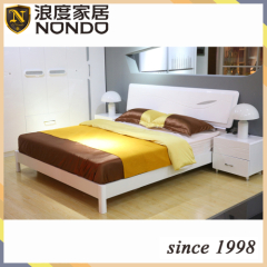 High gloss panel bed bedroom sets panel bed 5905