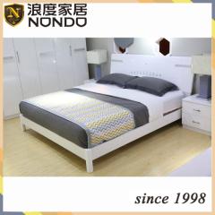 Morden MDF bed white color panel bed 5906