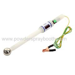 High voltage tester for powder coating gun