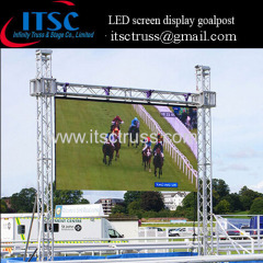 Outdoor truss system LED screen display goalpost