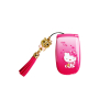 Hello Kity Mini PINK Single SIM New Ultra-Small Flip Girl Student Handset Cell Phone MP3 MP4 FM Radio Mobile Phone