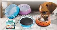 wholesale non-toxic safe high quality dog acrylic plastic bowl blue color