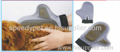 new customized soft pet dog massage bathing glove