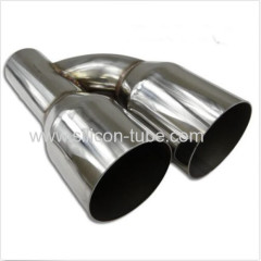 most popular auto stainless exhaust pipe exhaust muffler stainless steel for car