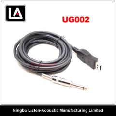 USB & 6.35 Jack Connector Guitar Cable UG 002