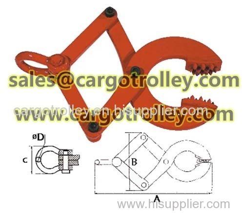 Pallet puller clamp for pallet moving works