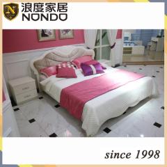Morden bed frame mdf panel bed 8501