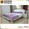 White bed frame panel bed with storage