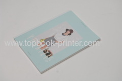 Custom design silver stamping or UV coated cover portrait softback book